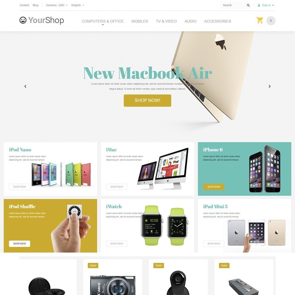 theme - Elektronika & High Tech - YourShop - Electronics Store - 2