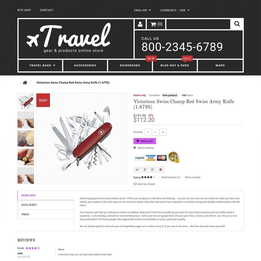 theme - Sports, Activities & Travel - Travel - Gear & Product Online Store - 3