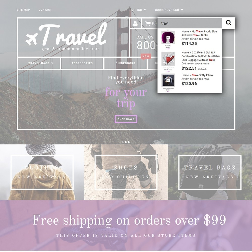 theme - Sports, Activities & Travel - Travel - Gear & Product Online Store - 6