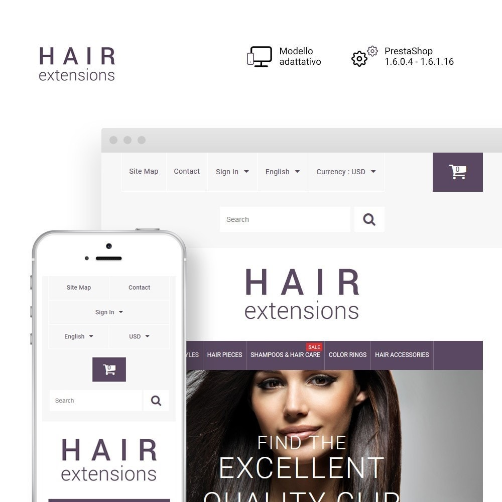 theme - Moda & Calzature - Hair Extensions - 1