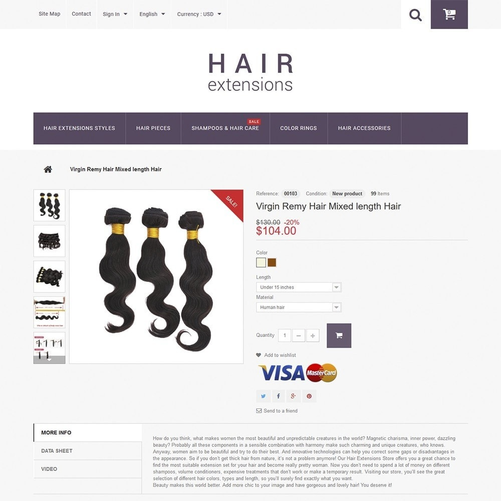 theme - Moda & Calzature - Hair Extensions - 3