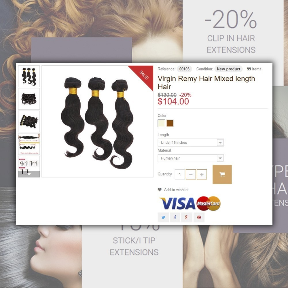 theme - Moda & Calzature - Hair Extensions - 5