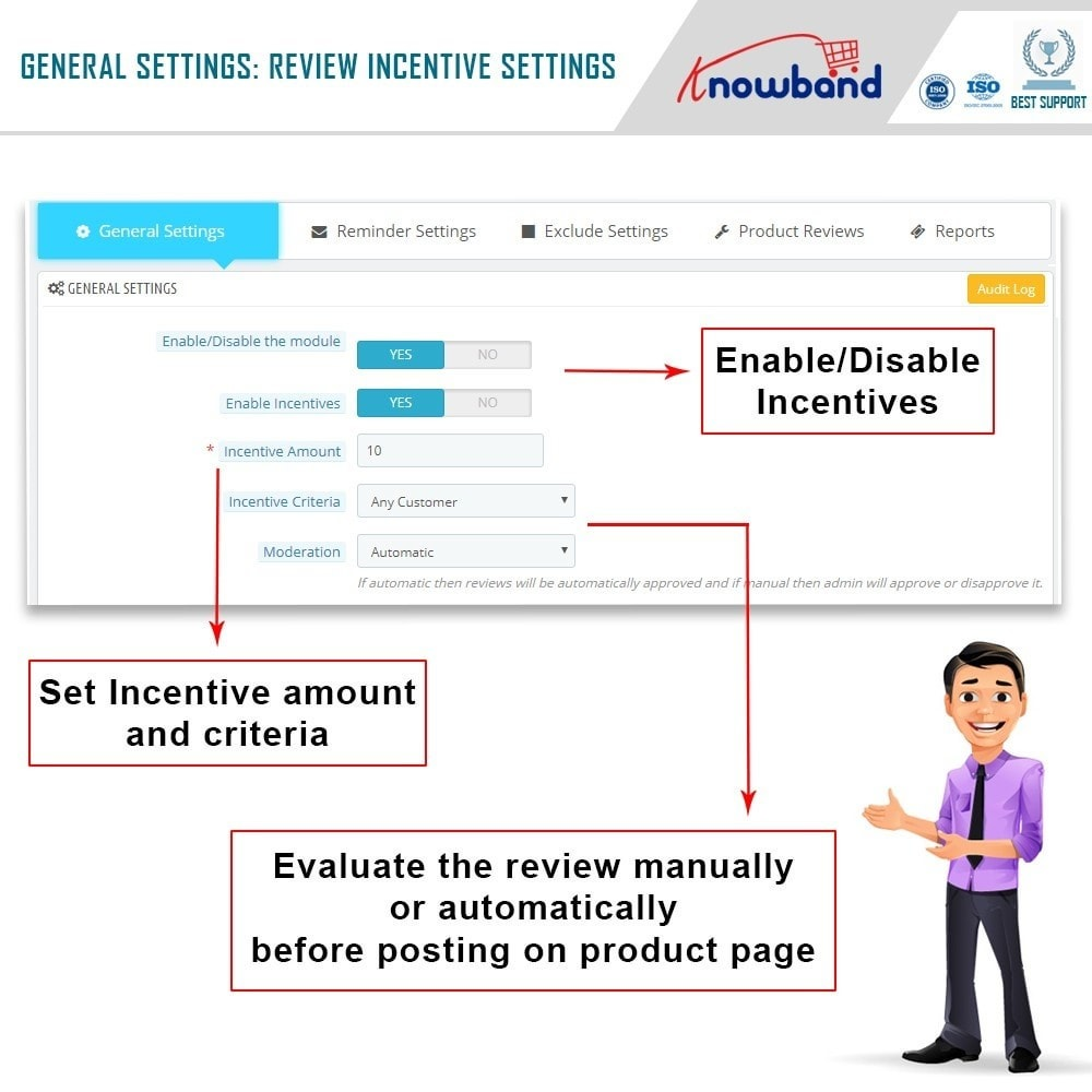 module - Opiniões de clientes - Knowband - Product Review Reminder and Incentives - 6