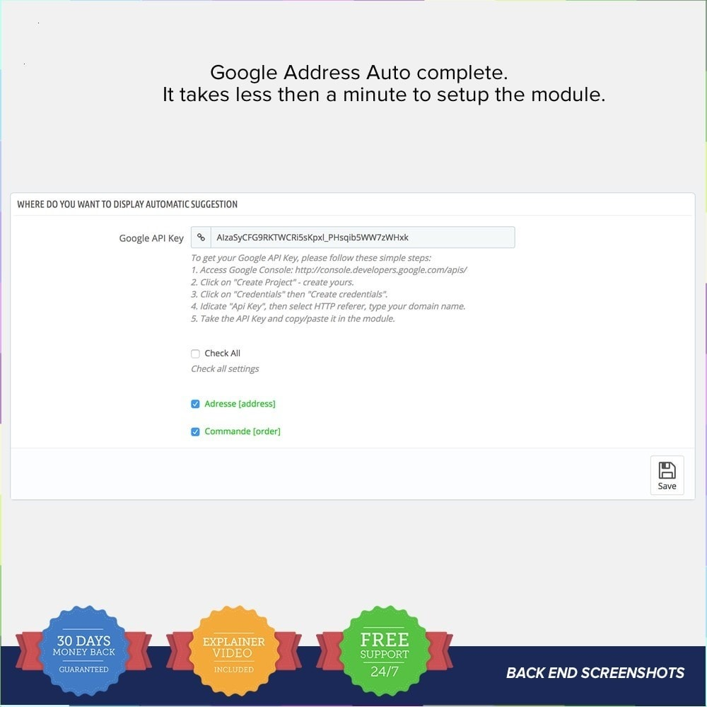module - Zoeken & Filteren - Google Address Autocomplete 1.6 and 1.7 - 3