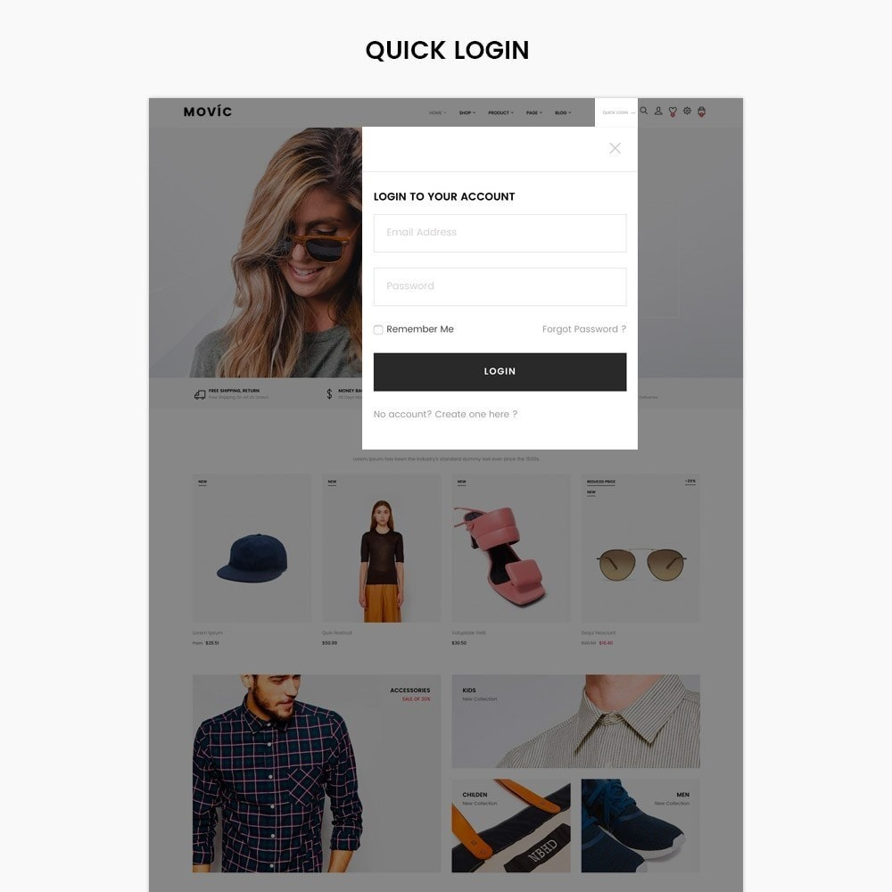 theme - Moda & Calçados - Movic Fashion Store - Prestashop 1.7 - 2