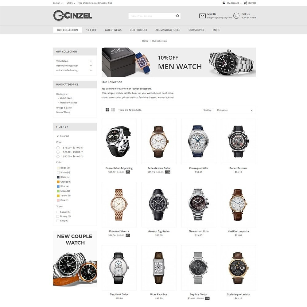 theme - Elektronica & High Tech - Cinzel Watch Store - 3