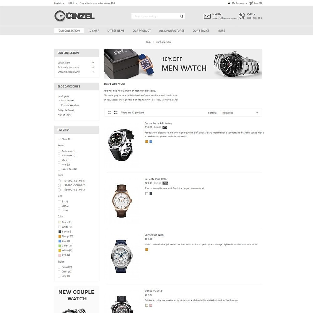 theme - Elektronica & High Tech - Cinzel Watch Store - 4