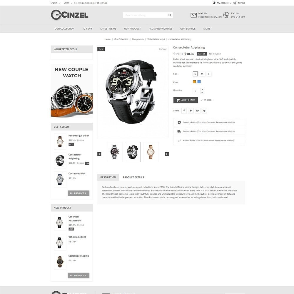 theme - Elektronica & High Tech - Cinzel Watch Store - 5