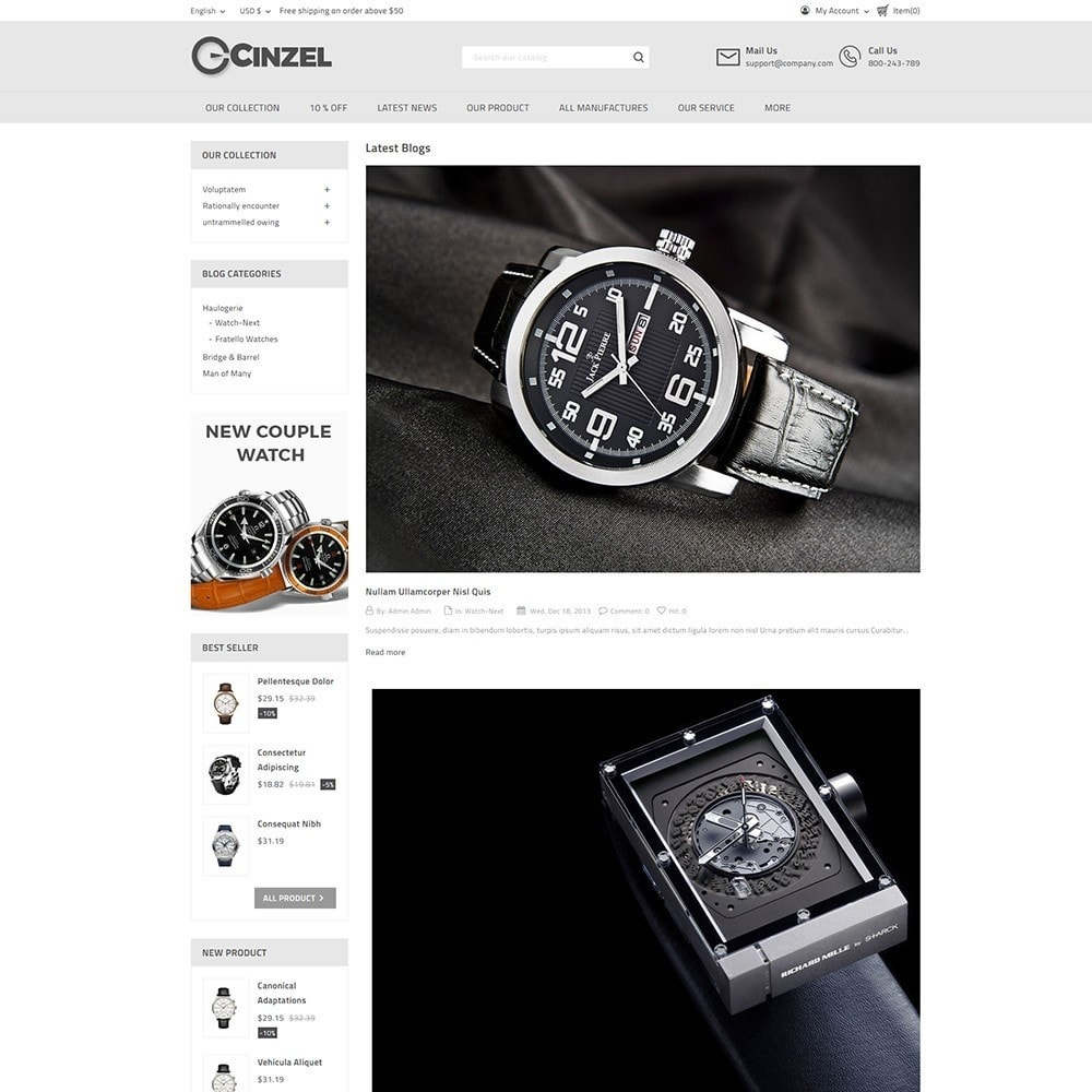 theme - Elektronica & High Tech - Cinzel Watch Store - 6