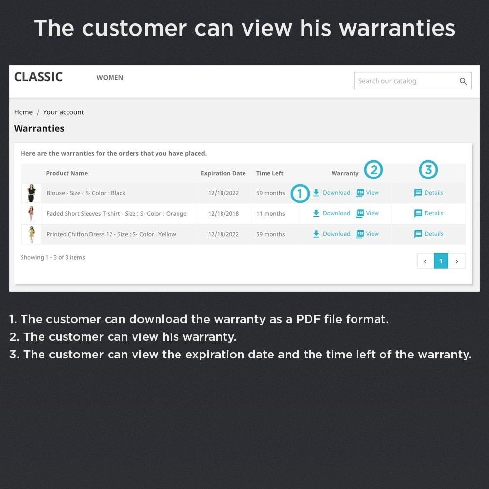module - Gerenciamento de pedidos - Product Warranty Pro - 4