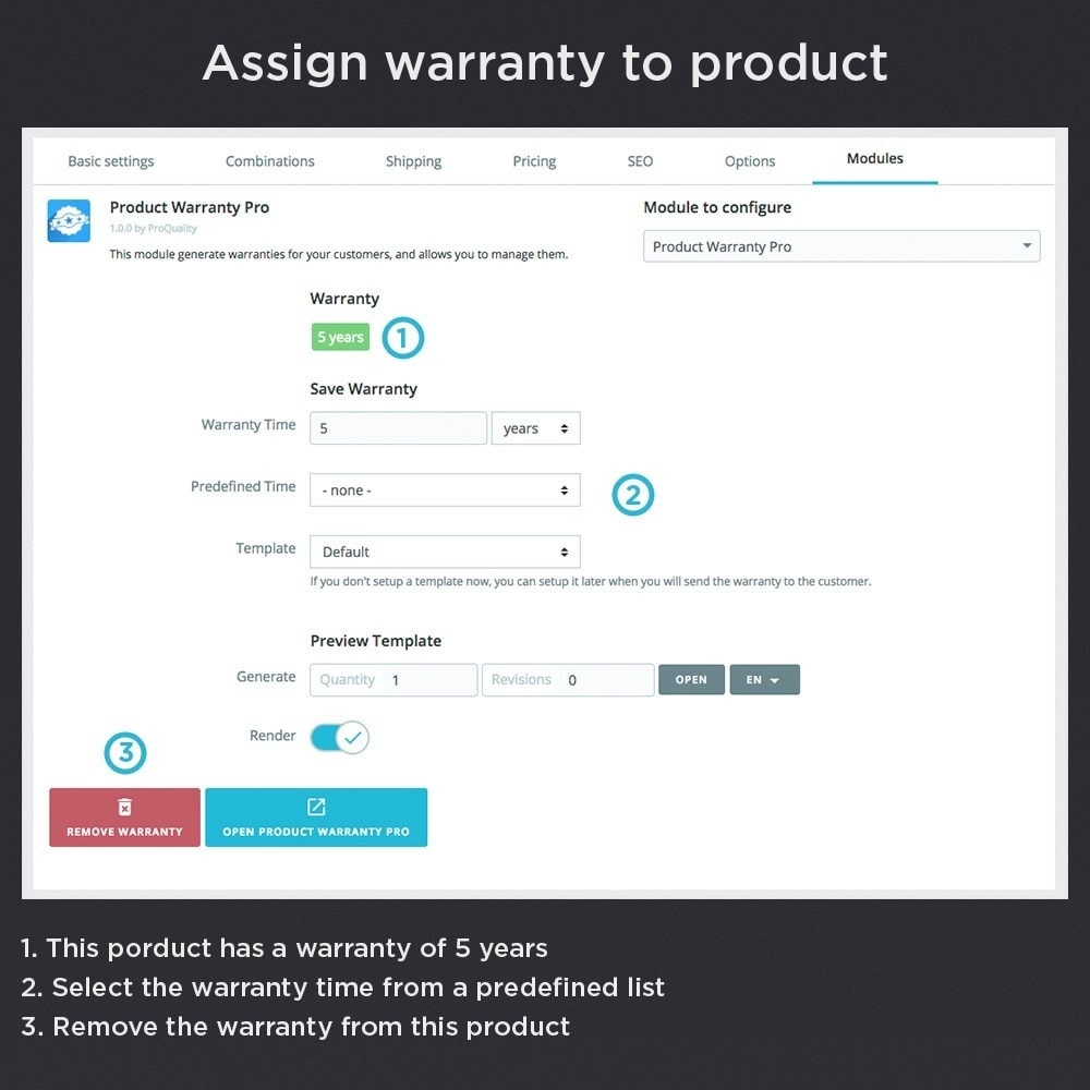 module - Gerenciamento de pedidos - Product Warranty Pro - 9