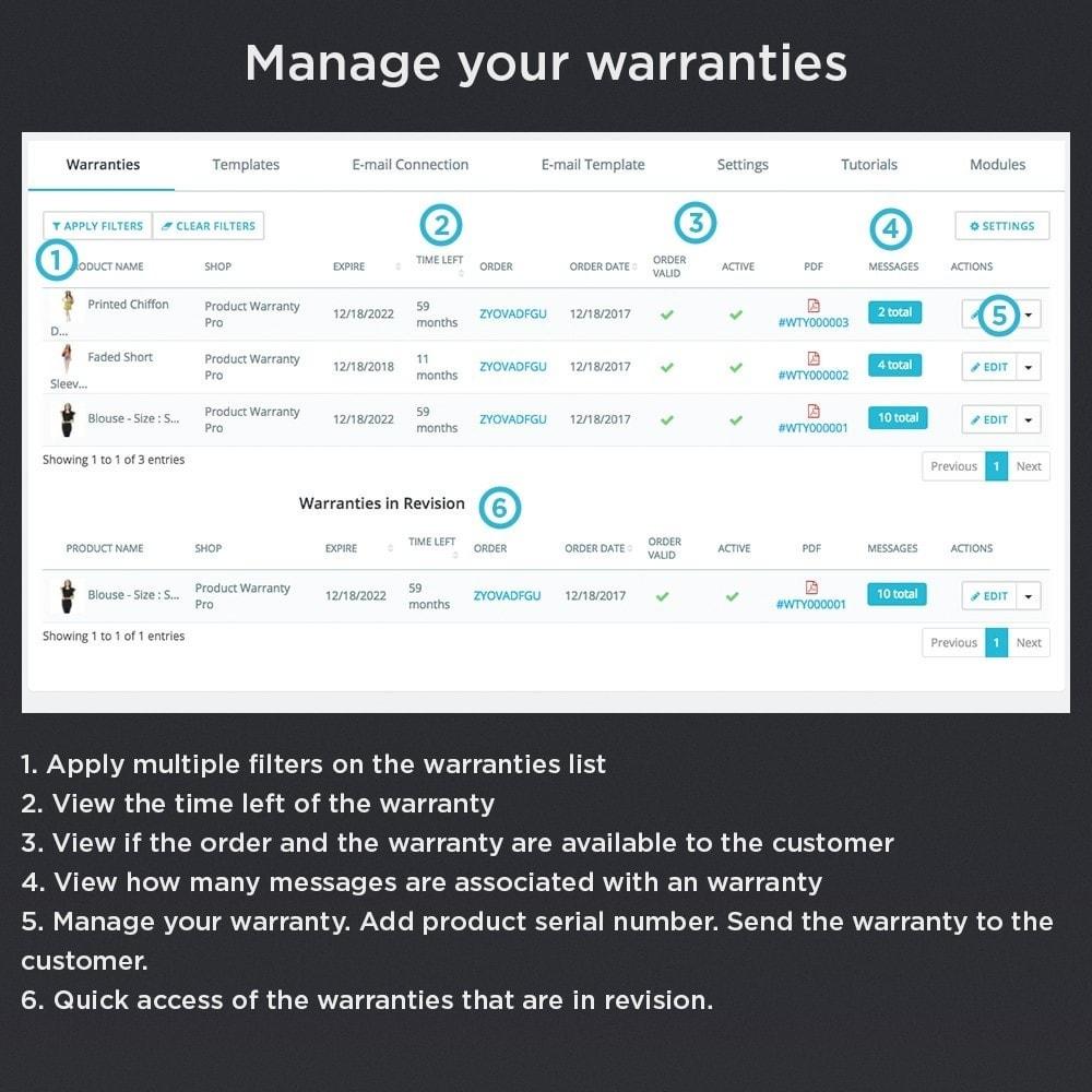 module - Gerenciamento de pedidos - Product Warranty Pro - 11