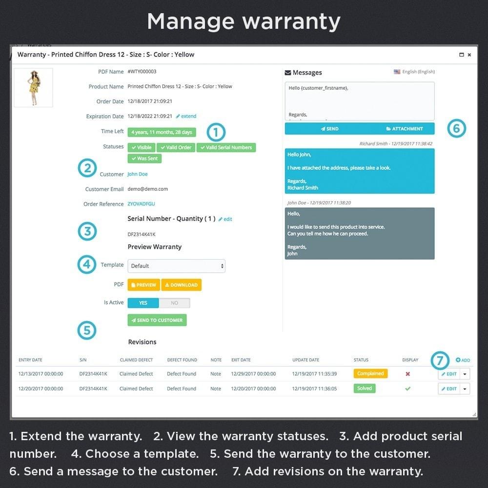 module - Gerenciamento de pedidos - Product Warranty Pro - 13