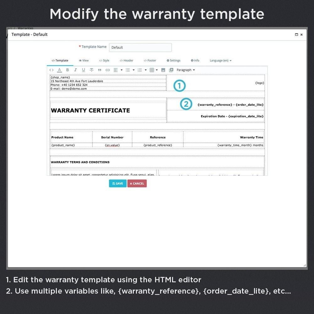 module - Gerenciamento de pedidos - Product Warranty Pro - 18