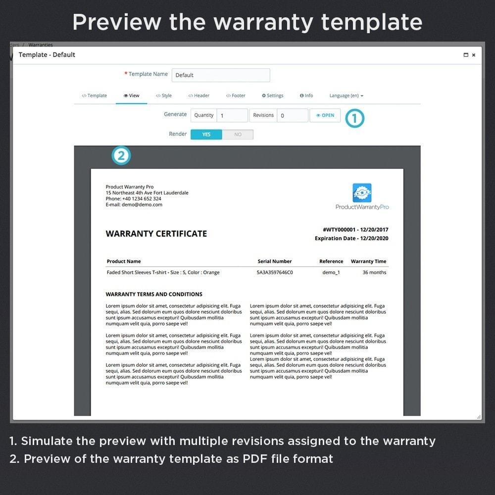 module - Gerenciamento de pedidos - Product Warranty Pro - 19