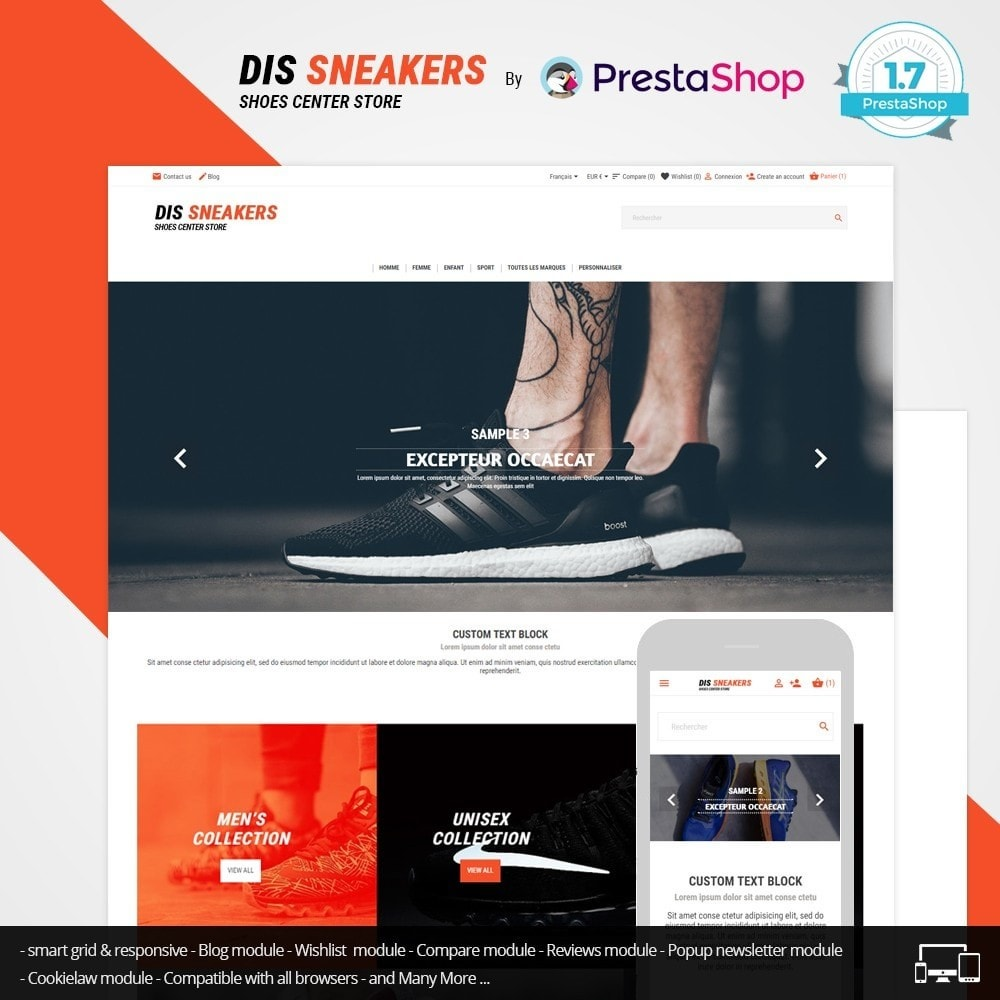 theme - Mode & Chaussures - Thème Dis Sneakers Store - 1