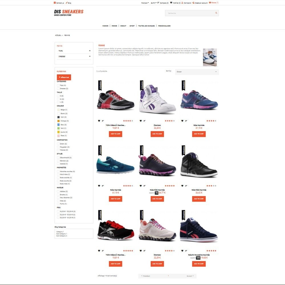 theme - Mode & Chaussures - Thème Dis Sneakers Store - 4