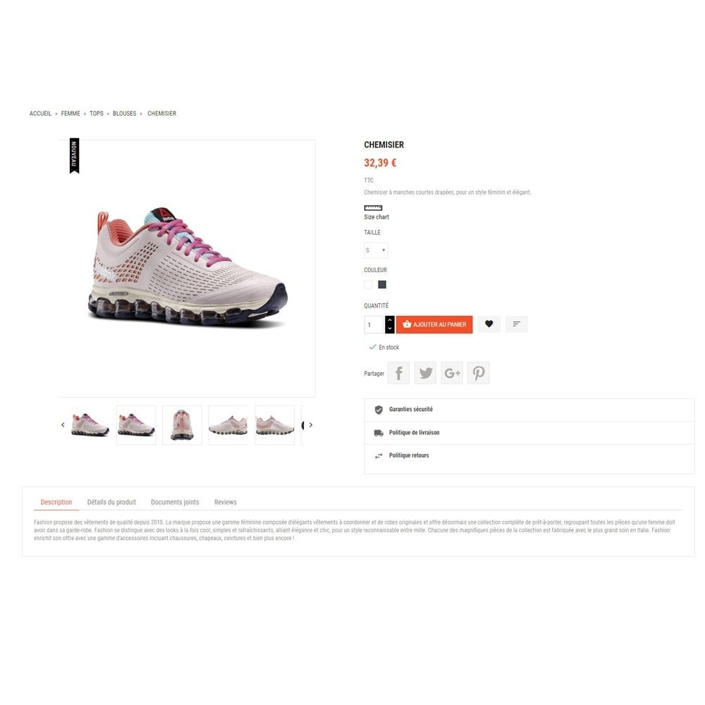 theme - Mode & Chaussures - Thème Dis Sneakers Store - 5
