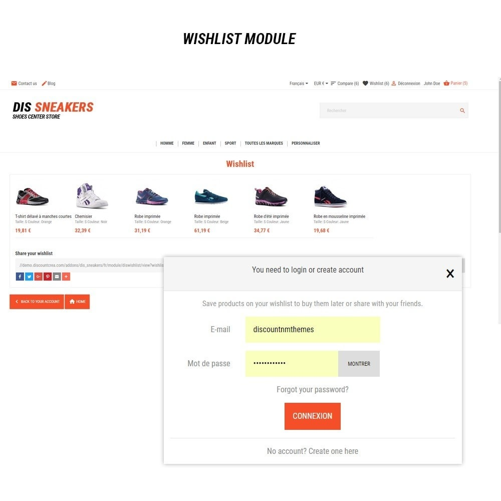 theme - Mode & Chaussures - Thème Dis Sneakers Store - 9