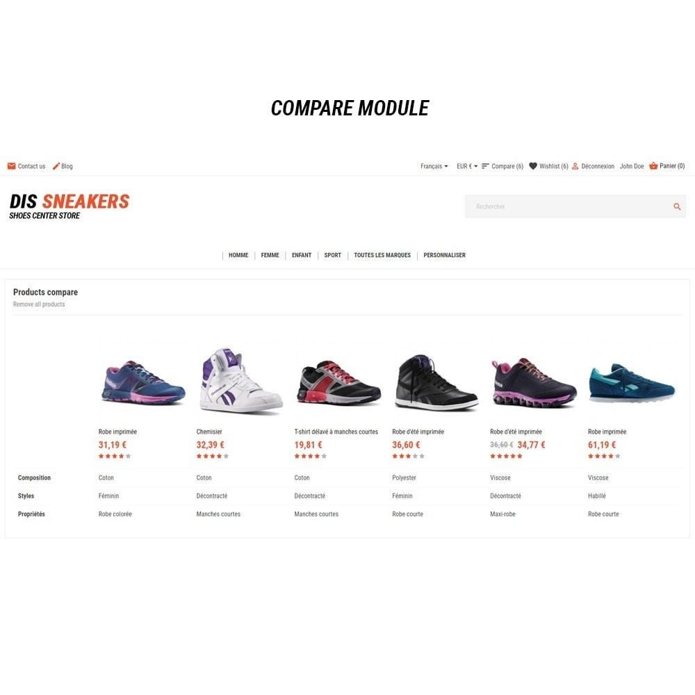 theme - Mode & Chaussures - Thème Dis Sneakers Store - 10