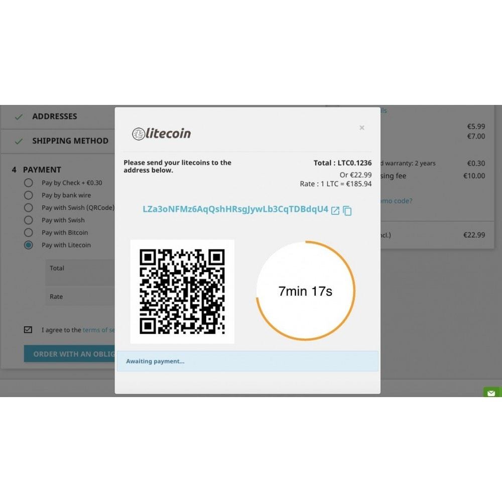 module - Other Payment Methods - Litecoin - Accept litecoins directly into your wallet - 2