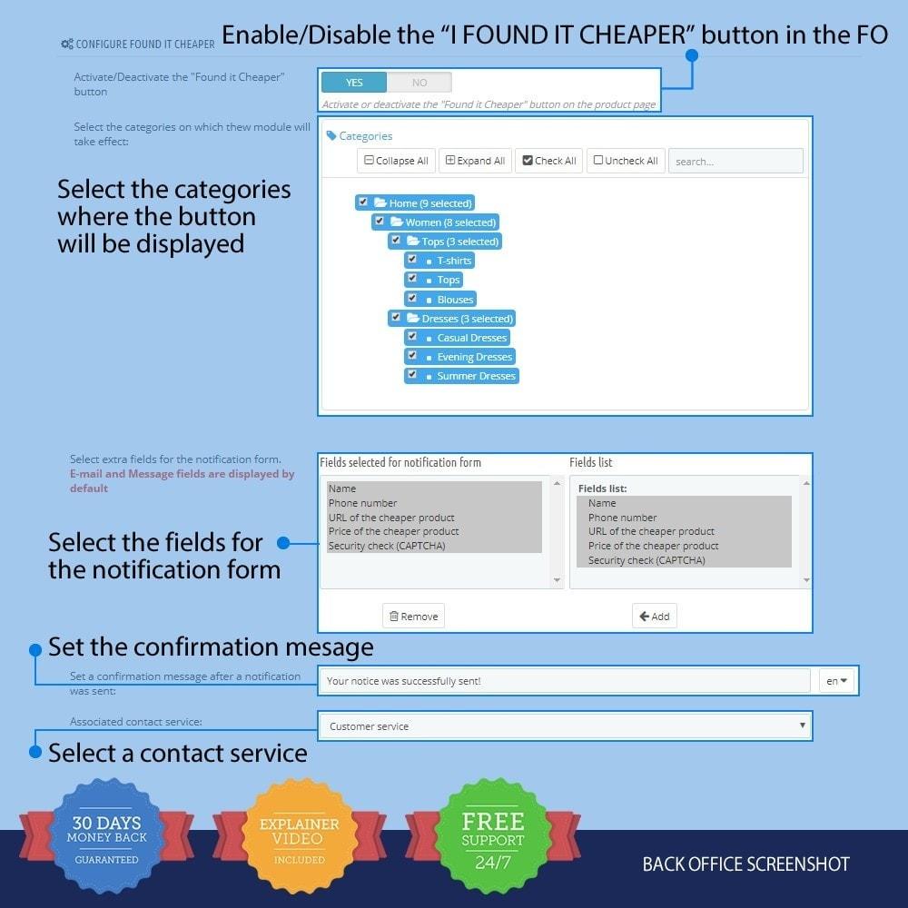module - Formulaires de Contact & Sondages - I Found It Cheaper - 1