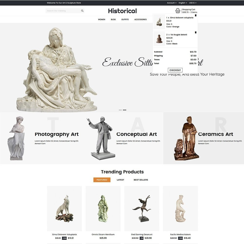 theme - Art & Culture - Historical Sculpture Store - 3