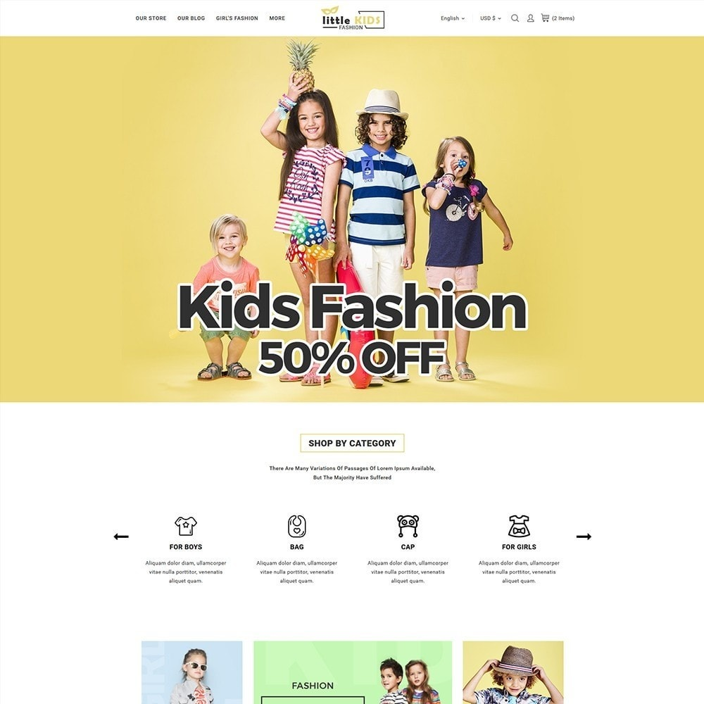theme - Fashion & Shoes - Littekids Fashion Store - 2