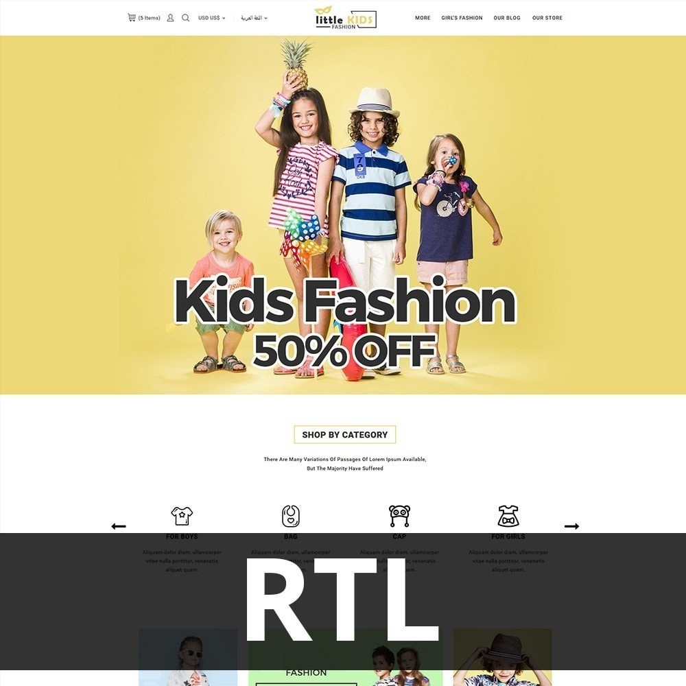 theme - Fashion & Shoes - Littekids Fashion Store - 3