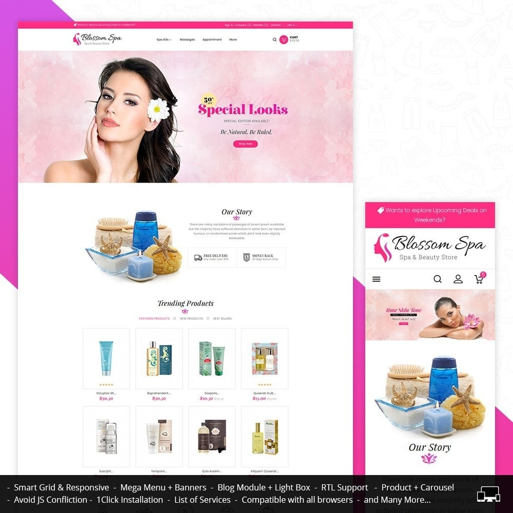 theme - Gezondheid & Schoonheid - Blossom Spa - 1