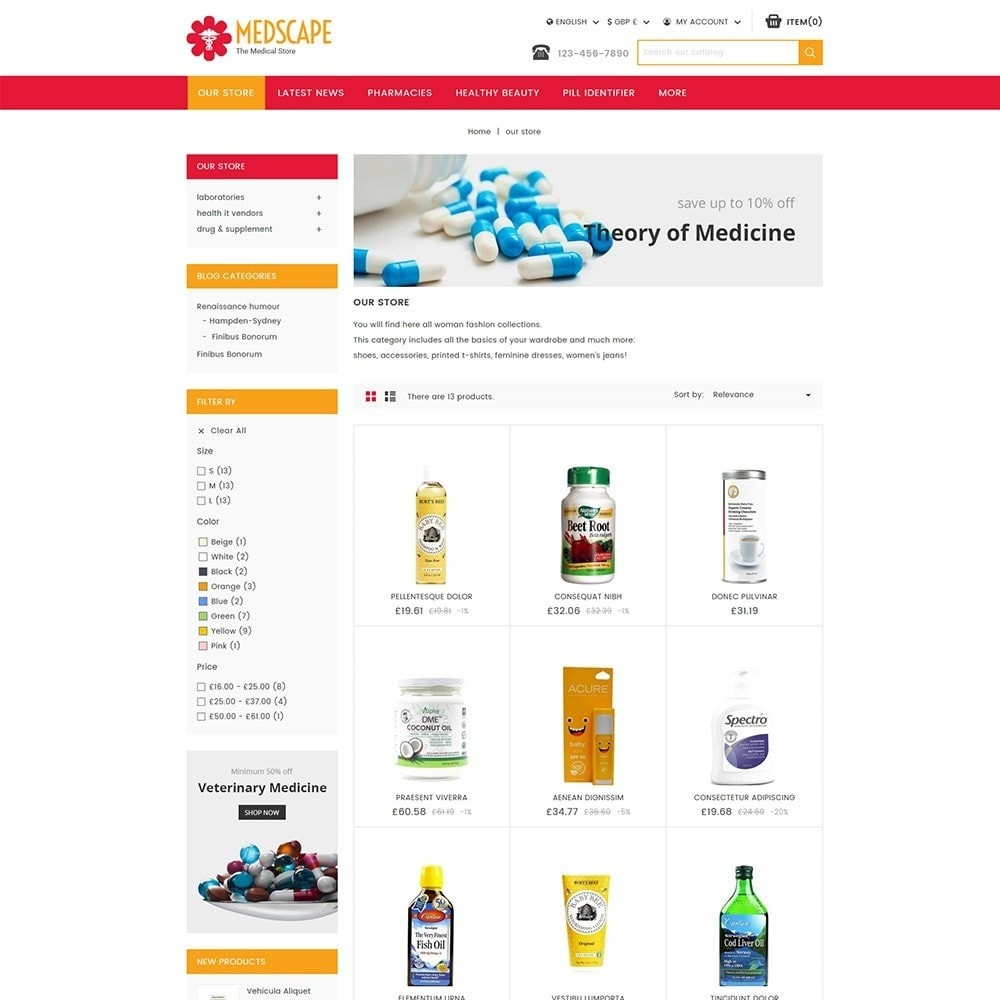 theme - Salute & Bellezza - Medscape Medical Store - 4