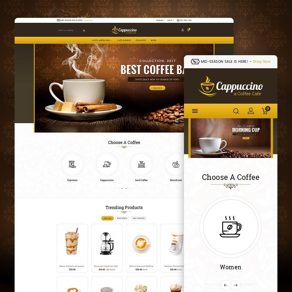theme - Drink & Wine - Coffee Cappuccino - 1