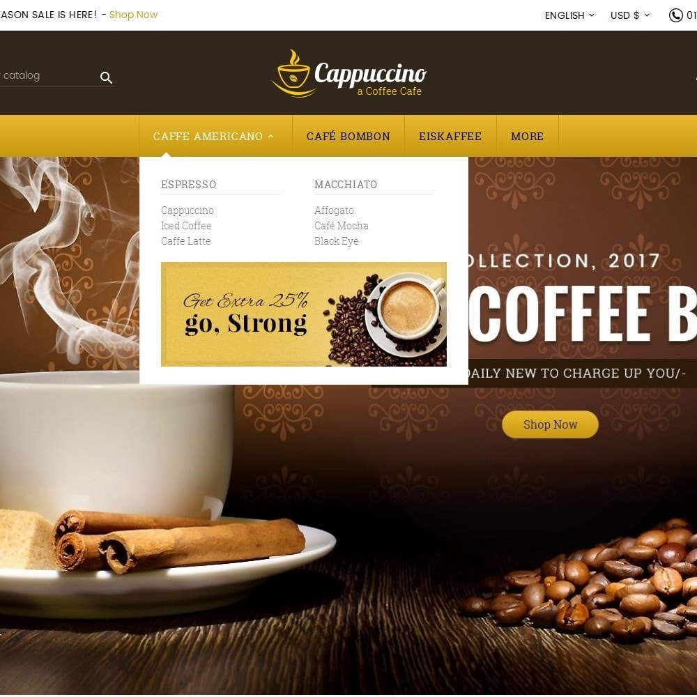 theme - Drink & Wine - Coffee Cappuccino - 8