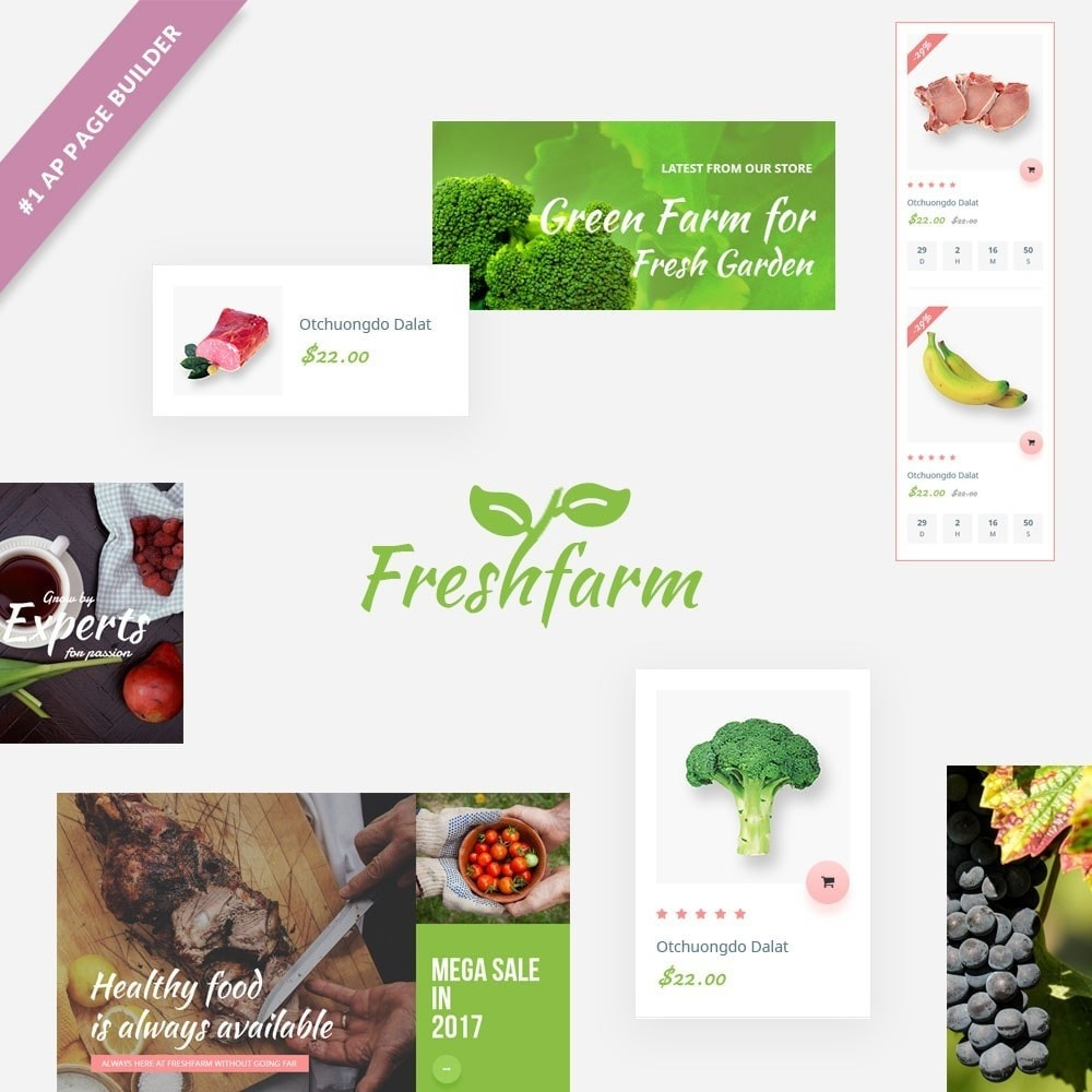 theme - Food & Restaurant - Leo Fresh Farm - 1