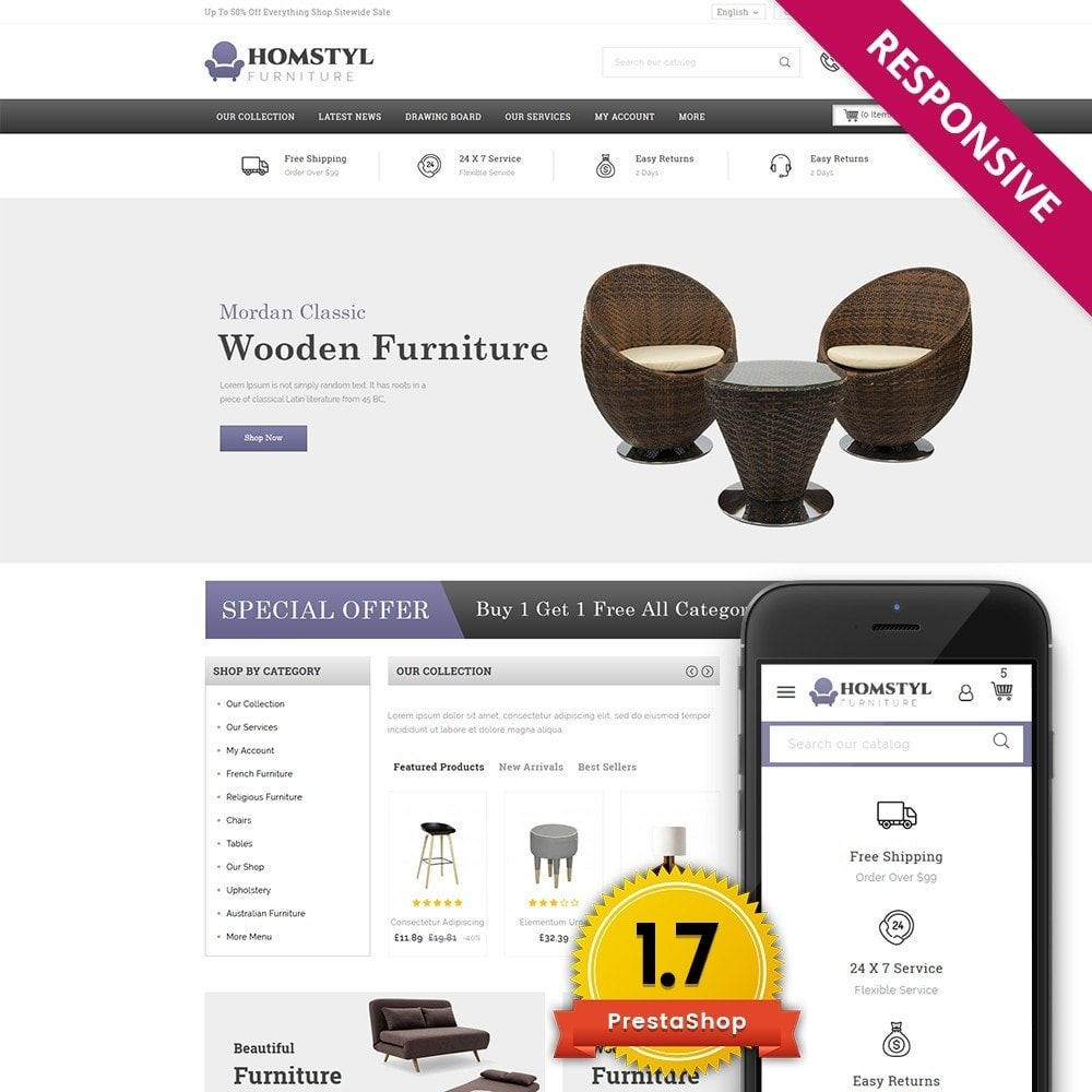 theme - Дом и сад - Homstyl Furniture Store - 1