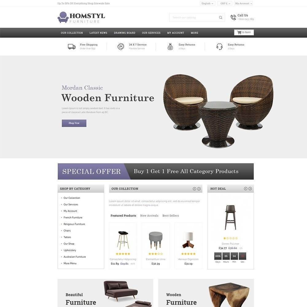 theme - Дом и сад - Homstyl Furniture Store - 2