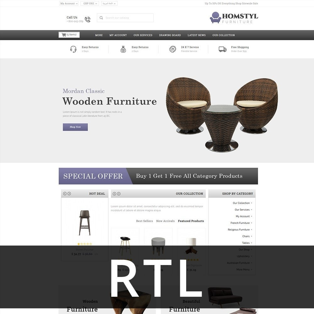 theme - Дом и сад - Homstyl Furniture Store - 3