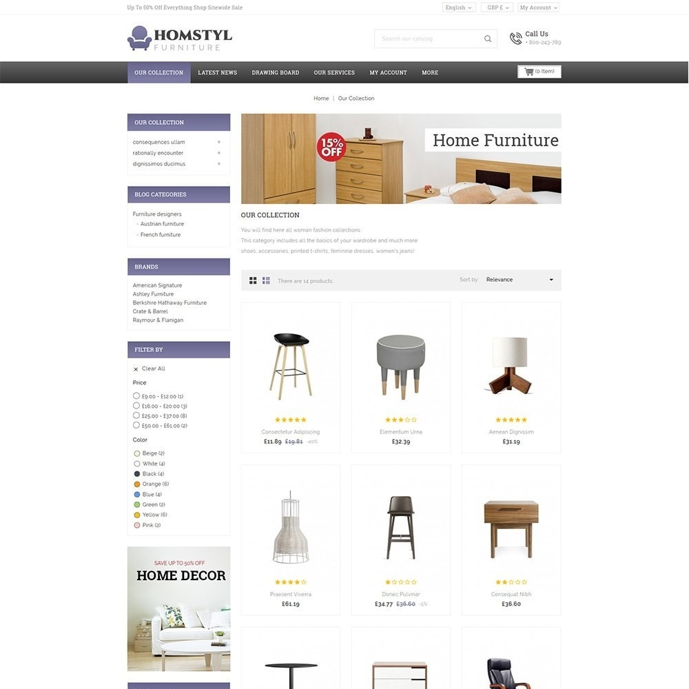 theme - Дом и сад - Homstyl Furniture Store - 4