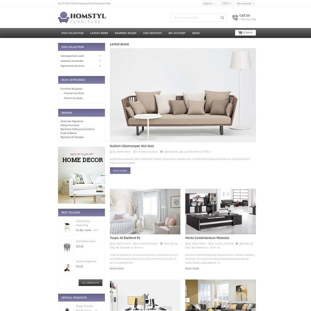 theme - Дом и сад - Homstyl Furniture Store - 7
