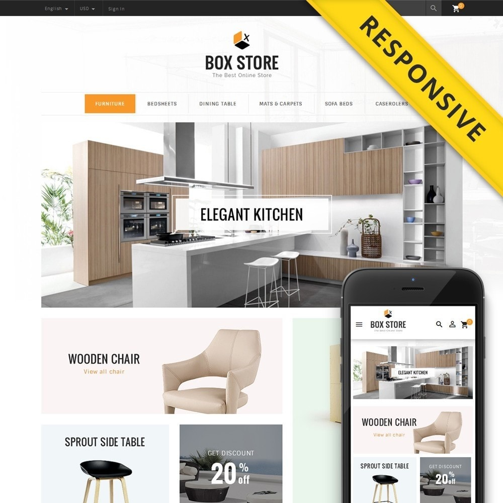 theme - Dom & Ogród - BoxStore - Furniture Store - 1