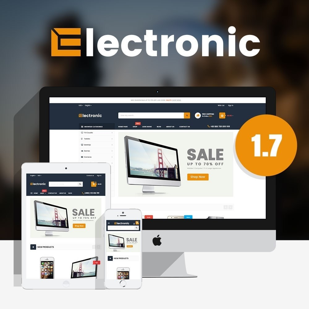 theme - Elektronika & High Tech - Supermarket Online Store - 1