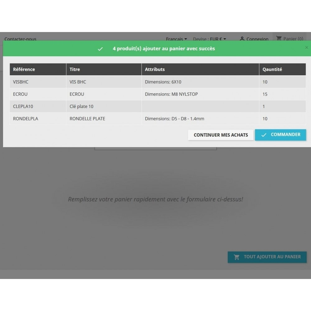 module - Proceso rápido de compra - Quick purchase - Fill cart quick - 6
