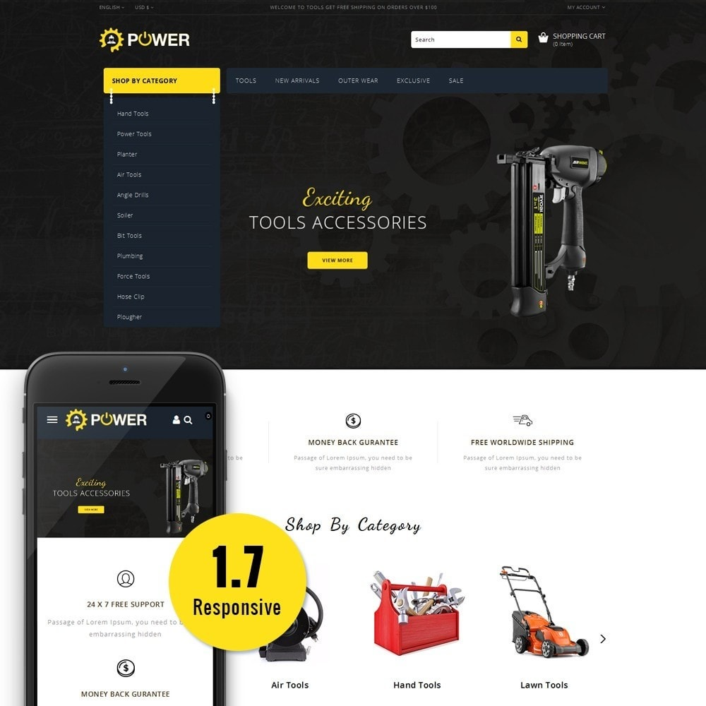 theme - Eletrônicos & High Tech - PowerTools Store - 1