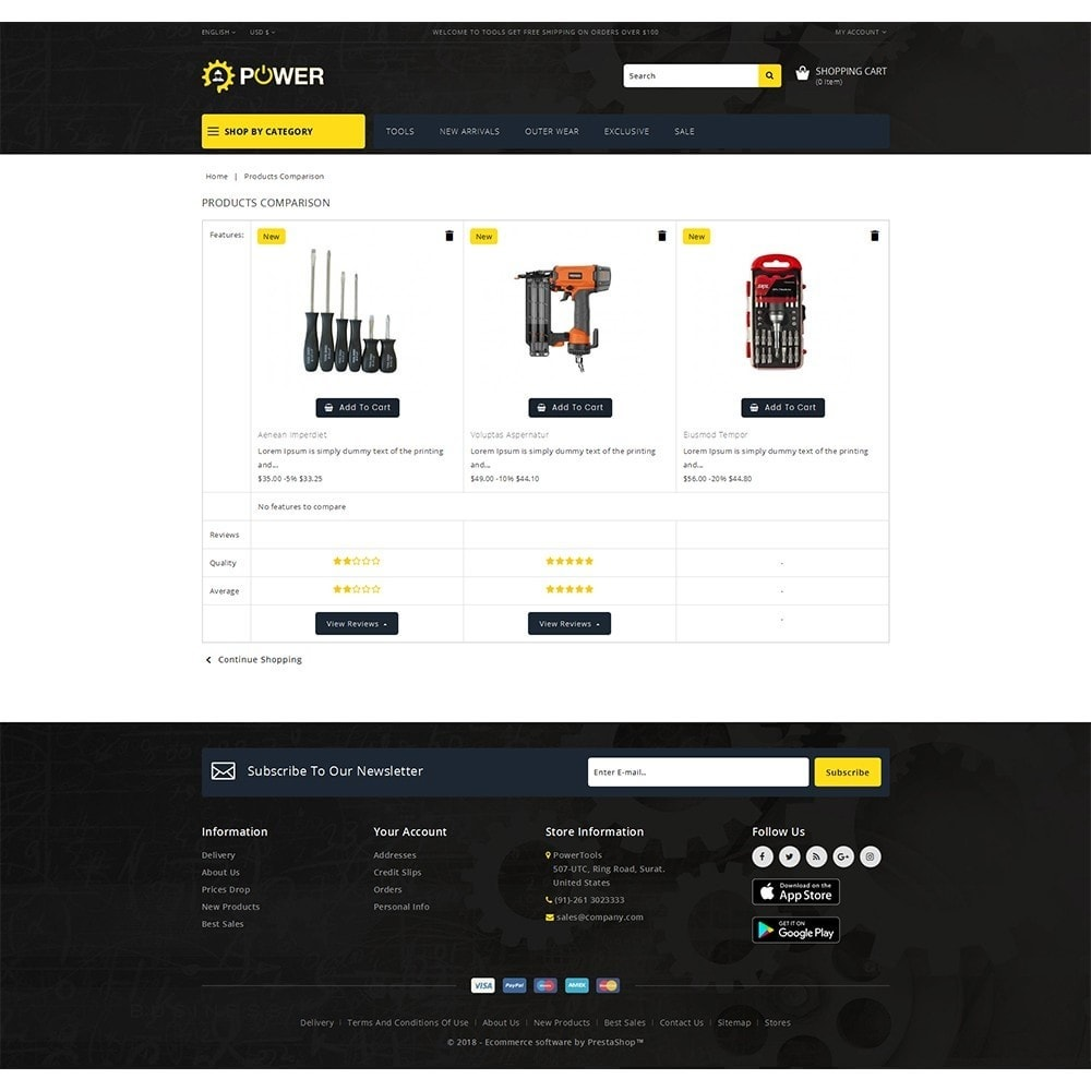 theme - Eletrônicos & High Tech - PowerTools Store - 9