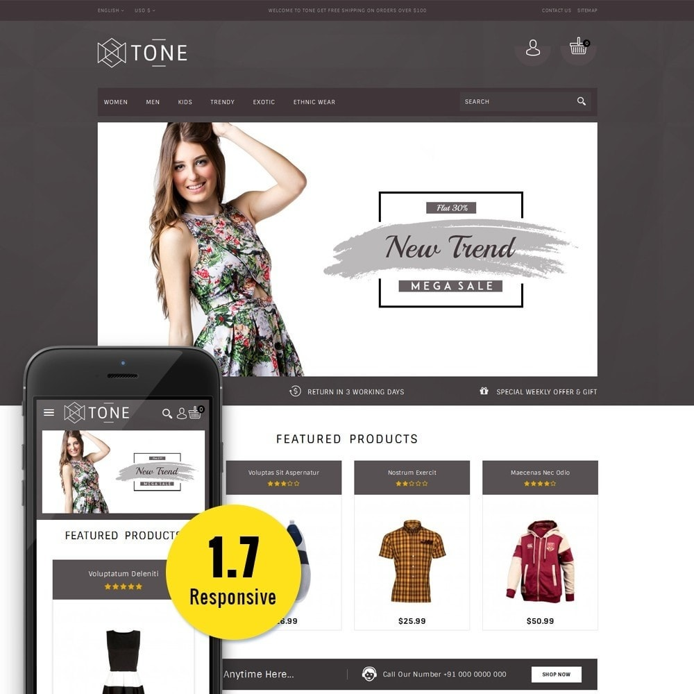theme - Fashion & Shoes - Tone Fashion Store - 1