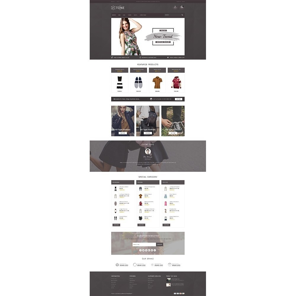 theme - Fashion & Shoes - Tone Fashion Store - 2