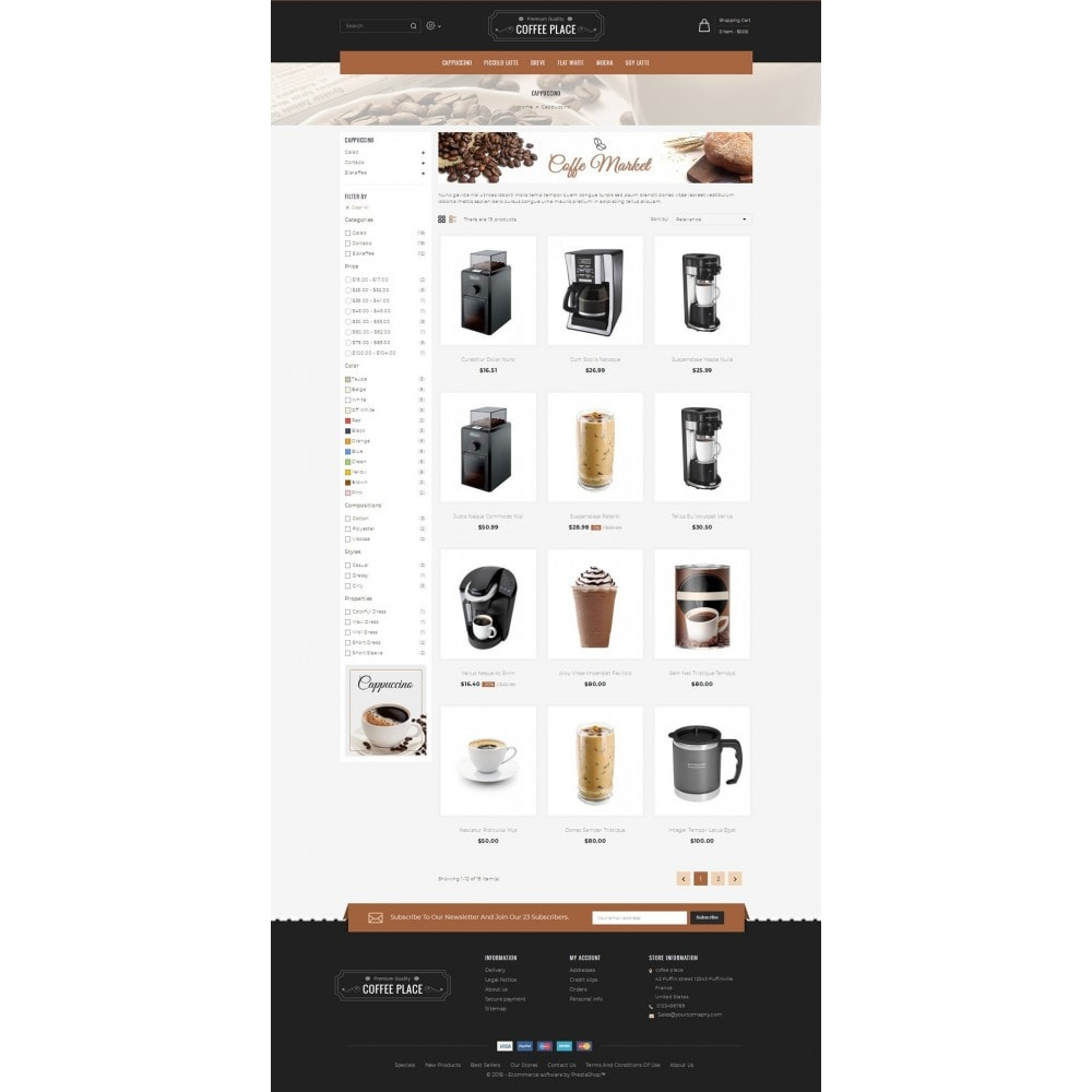 theme - Cibo & Ristorazione - Coffee Place Shop - 3