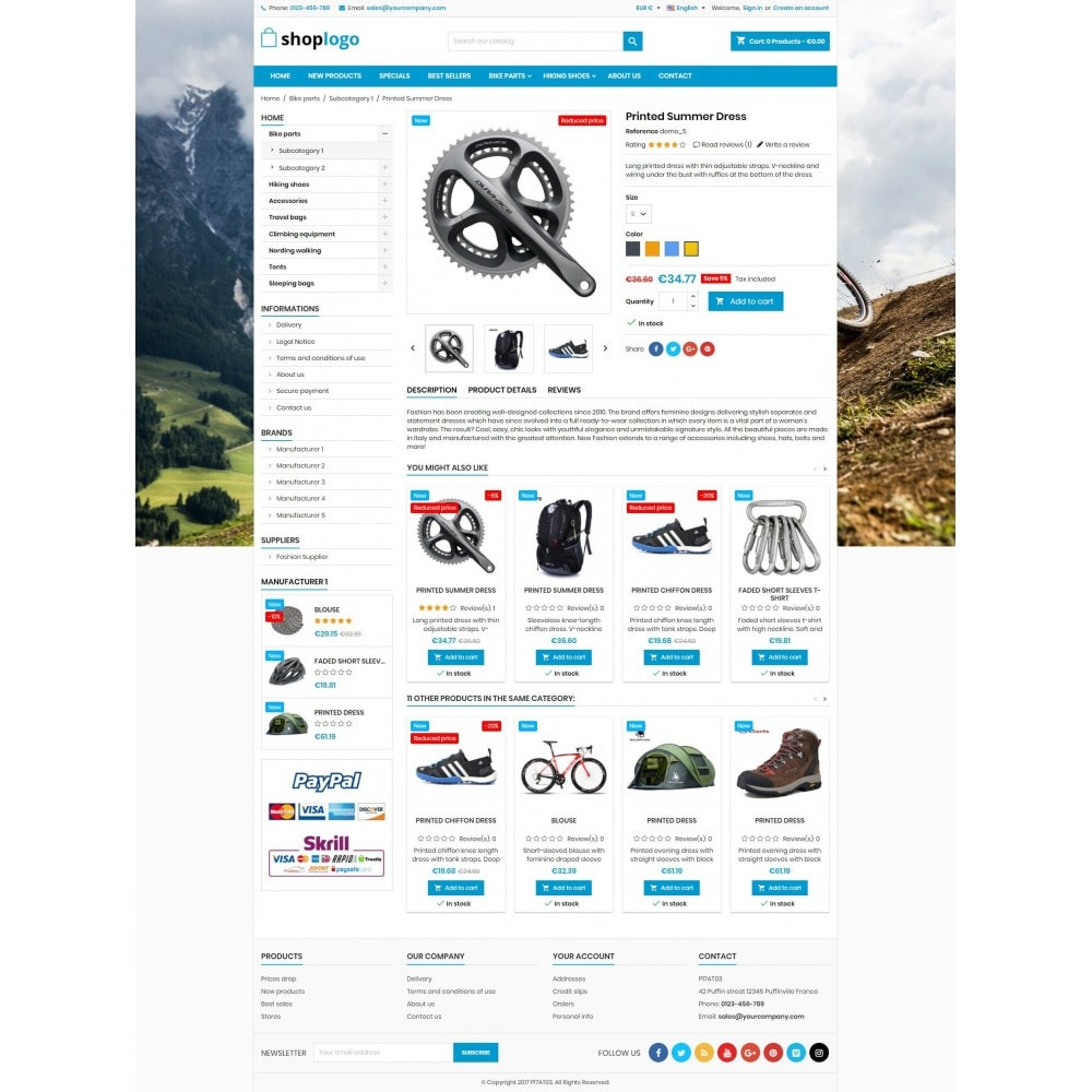 theme - Спорт и Путешествия - P17AT03 Bikes, sport and travel store - 4
