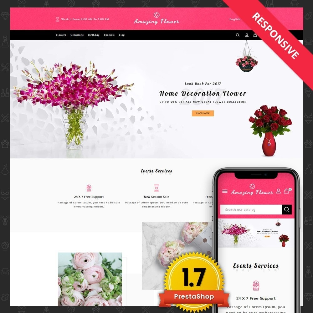 theme - Gifts, Flowers & Celebrations - Amazing Flower - 1