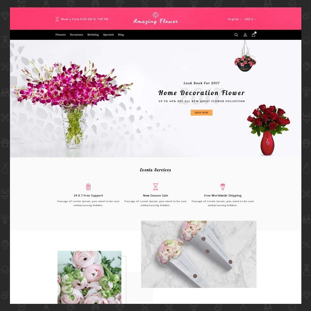 theme - Gifts, Flowers & Celebrations - Amazing Flower - 2